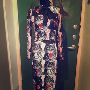 Fun and flirty tiger maxi dress